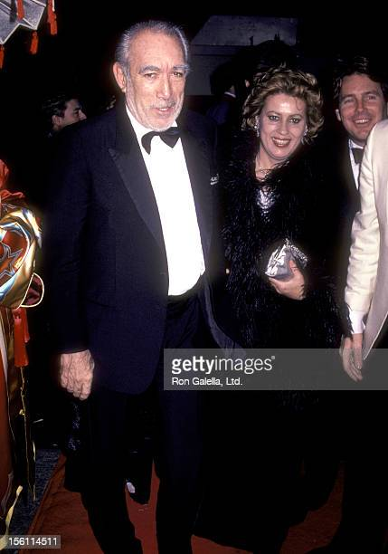 Actor Anthony Quinn and wife Jolanda Addolori attend the 'Marilyn' Broadway Musical Opening Night Performance on November 20 1983 at Minskoff Theatre...