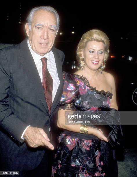 Actor Anthony Quinn and wife Jolanda Addolori attend the Party to Celebrate the Launch of Regine Zylberberg's New Perfume Line 'Regine's' on...