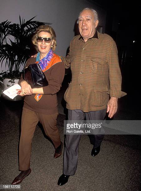 Actor Anthony Quinn and wife Jolanda Addolori on December 17, 1993 departing from the Los Angeles International Airport in Los Angeles, California.