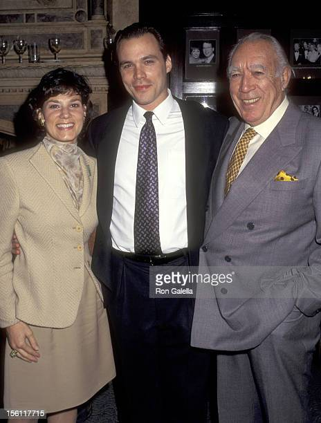 Actor Anthony Quinn and wife Kathy Benvin and his son Danny Quinn attend Anthony Quinn Hosts Party in Honor of His Book 'One Man Tango' on September...