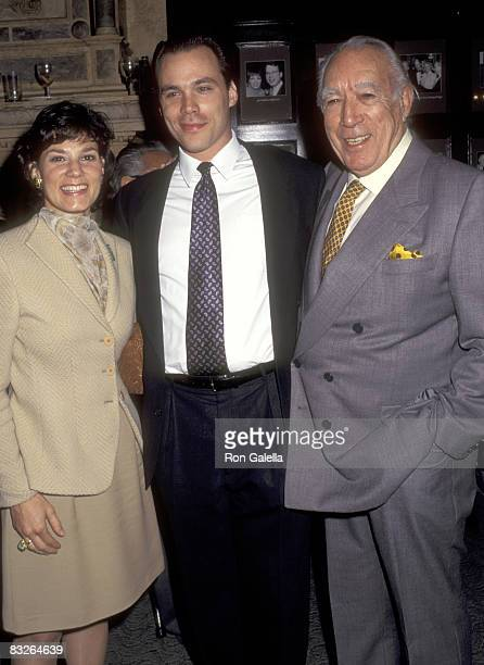 Actor Anthony Quinn and wife Kathy Benvin and his son Danny Quinn attend Anthony Quinn Hosts Party in Honor of His Book One Man Tango on September 27...