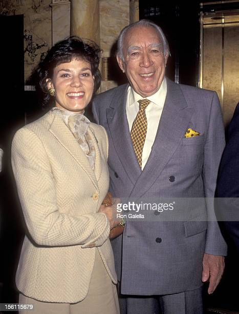 Actor Anthony Quinn and wife Kathy Benvin attend Anthony Quinn Hosts Party in Honor of His Book 'One Man Tango' on September 27 1995 at New York...