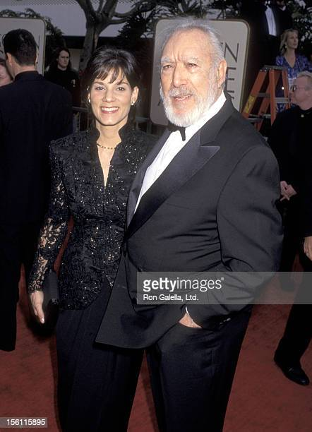 Actor Anthony Quinn and wife Kathy Benvin attend the 54th Annual Golden Globe Awards on January 19 1997 at Beverly Hilton Hotel in Beverly Hills...