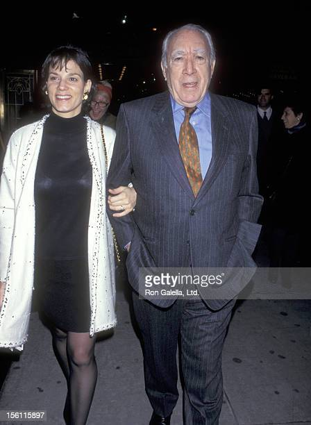 Actor Anthony Quinn and wife Kathy Benvin attend the 'Barrymore' Broadway Play Performance on April 1 1997 at Musix Box Theatre in New York City New...