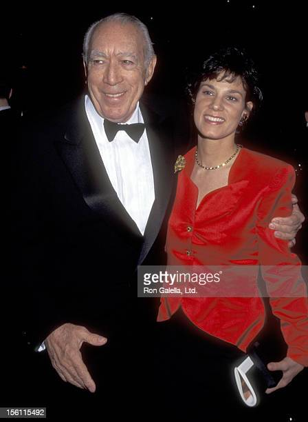Actor Anthony Quinn and wife Kathy Benvin attend the 'Night of 200' Stars Second Annual International Achievement in Arts Awards on December 2 1995...