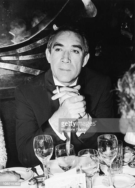S Actor Anthony Quinn At Table At Maxim'S Paris For The First Of His Film Zorba The Greek In Paris May 6 1965