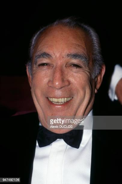 Actor Anthony Quinn Attending Lawrence Of Arabia Screening At Cannes Film Festival May 10 1989