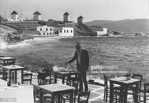 Actor Anthony Quinn in a scene from the film 'The Greek Tycoon' 1978