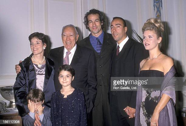 Actor Anthony Quinn wife Kathy Benvin and kids Antonia Quinn and Ryan Quinn Lorenzo Quinn and wife Giovanna Quinn attend the New York Friars Club...