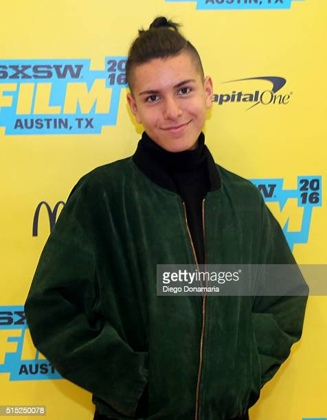 Actor Anthony Quintal attends the premiere of Miss Stevens during the 2016 SXSW Music Film Interactive Festival at Vimeo on March 12 2016 in Austin...