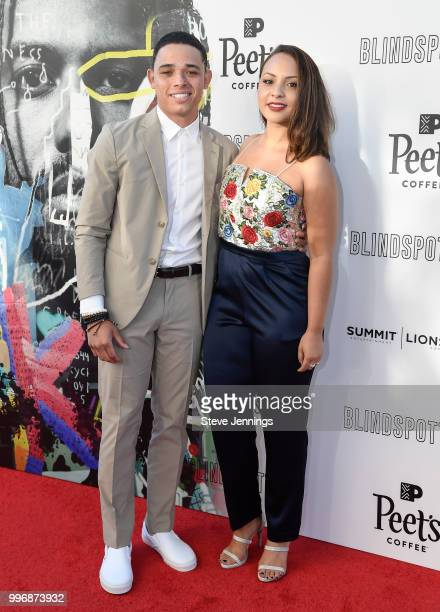 Actor Anthony Ramos and Actress Jasmine Cehpas Jones attend the Premiere of Summit Entertainment's 'Blindspotting' at The Grand Lake Theater on July...
