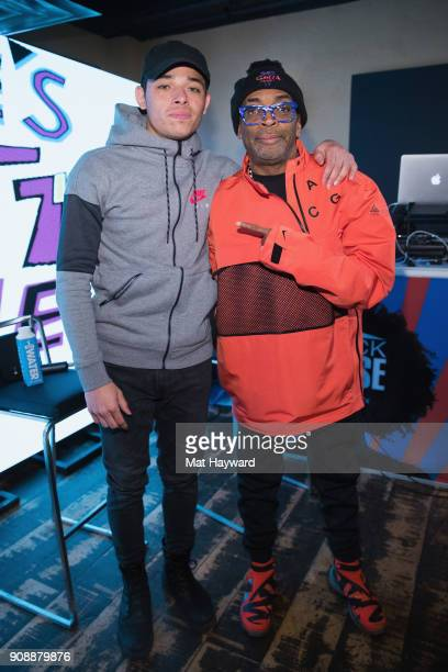 Actor Anthony Ramos and Filmmaker Spike Lee pose for a photo during the 'She's Gotta Have It' brunch sponsored by Netflix at Buona Vita on January 22...