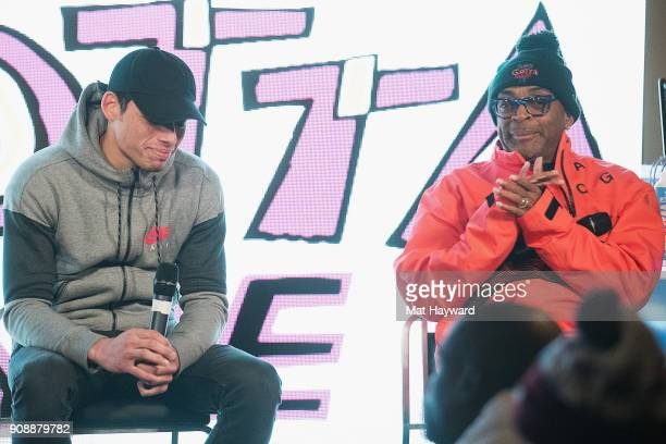Actor Anthony Ramos and Filmmaker Spike Lee speaks during the 'She's Gotta Have It' brunch sponsored by Netflix at Buona Vita on January 22 2018 in...