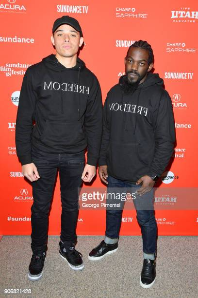 Actor Anthony Ramos and Music Producer Will Wells attend the 'Blindspotting' Premiere during the 2018 Sundance Film Festival at Eccles Center Theatre...