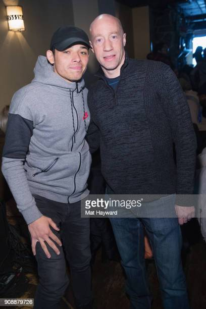 Actor Anthony Ramos and Ted Reid pose for a photo during the 'She's Gotta Have It' brunch sponsored by Netflix at Buona Vita on January 22 2018 in...