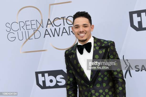 Actor Anthony Ramos arrives for the 25th Annual Screen Actors Guild Awards at the Shrine Auditorium in Los Angeles on January 27 2019
