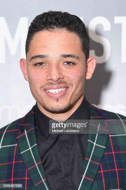 Actor Anthony Ramos attends the New York premiere of 'Monsters And Men' at the BAM Harvey Theater on September 25 2018 in the Brooklyn borough of New...