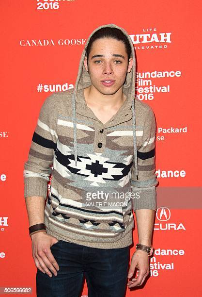 Actor Anthony Ramos attends the Premiere of White Girl at the Library Center Theater in Park City Utah January 23 2016 / AFP / Valerie MACON