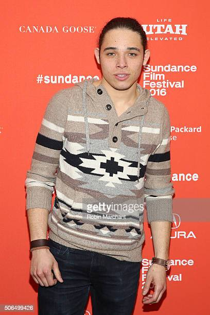 Actor Anthony Ramos attends the 'White Girl' Premiere during the 2016 Sundance Film Festival at Library Center Theater on January 23 2016 in Park...