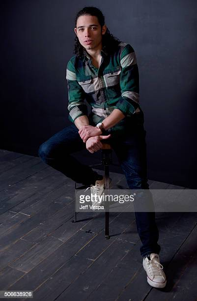 Actor Anthony Ramos from the film 'White Girl' poses for a portrait during the WireImage Portrait Studio hosted by Eddie Bauer at Village at The Lift...