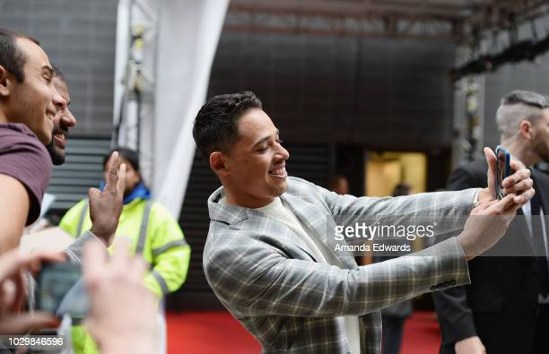 Actor Anthony Ramos greets fans at the 2018 Toronto International Film Festival on September 9 2018 in Toronto Canada