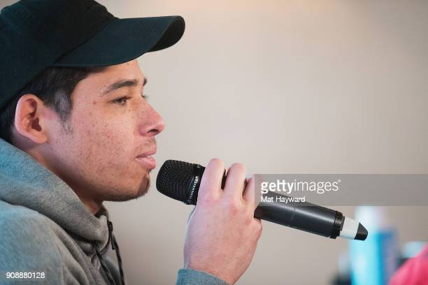 Actor Anthony Ramos speaks during the 'She's Gotta Have It' brunch sponsored by Netflix at Buona Vita on January 22 2018 in Park City Utah