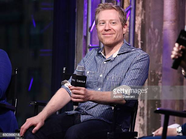 Actor Anthony Rapp attends Build Presents Anthony Rapp Tyler Mount Christine Pedi Playbill Discussing 'Broadway Con' at AOL HQ on December 21 2016 in...