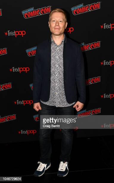 Actor Anthony Rapp attends the Star Trek Discovery panel during New York Comic Con at The Hulu Theater at Madison Square Garden on October 6 2018 in...