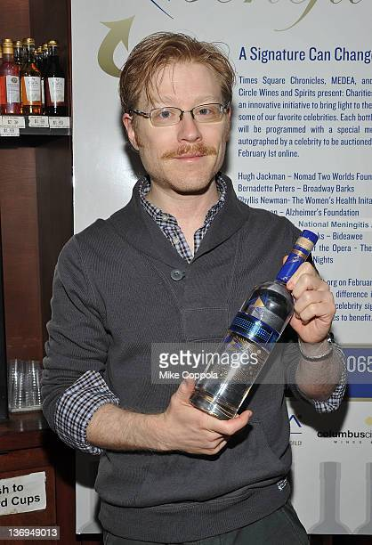 Actor Anthony Rapp attends the unveiling of the Medea Vodka bottles for Charities to Benefit at Columbus Wines Spirits on January 13 2012 in New York...