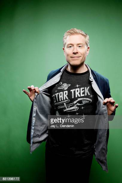 Actor Anthony Rapp from the television series 'Star Trek Discovery' is photographed in the LA Times photo studio at ComicCon 2017 in San Diego CA on...
