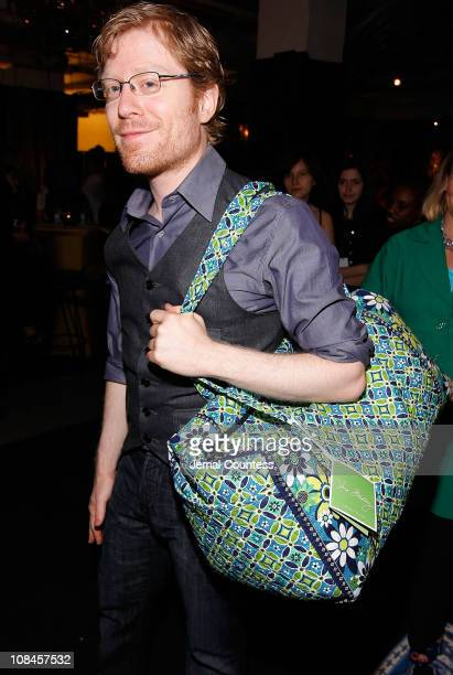 Actor Anthony Rapp poses at the 62nd Annual Tony Awards Official Gift Lounge produced by On 3 Productions at Radio City Music Hall on June 15 2008 in...