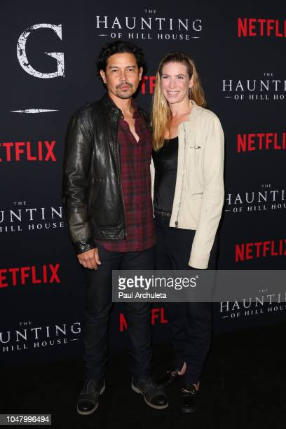 Actor Anthony Ruivivar and Yvonne Jung attend Netflix's The Haunting Of Hill House season 1 premiere at ArcLight Hollywood on October 8 2018 in...