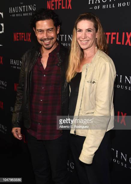 Actor Anthony Ruivivar and Yvonne Jung attend the premiere of Neflix's The Haunting Of Hill House at ArcLight Hollywood on October 8 2018 in...