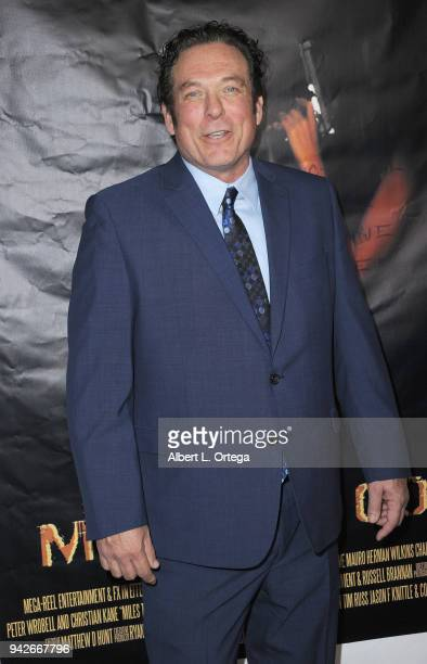 Actor Anthony Snow arrives for the Los Angeles Premiere of 'Miles To Go' held at Writers Guild Theater on April 5 2018 in Beverly Hills California