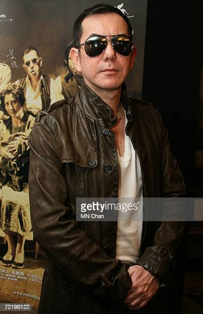 Actor Anthony Wong attends the premiere of his new movie Exiled on October 17 2006 in Hong Kong China