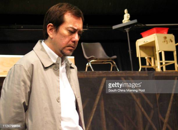 Actor Anthony Wong Chausang at the rehearsal of Hong Kong Repertory Theatre's A Small Family Business 20 February 2004