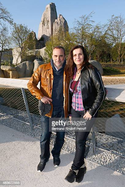 Actor Antoine Dulery and his wife actress Pascale Pouzadoux attend the Private visit of the Zoological Park of Paris due to reopen on April 12 On...