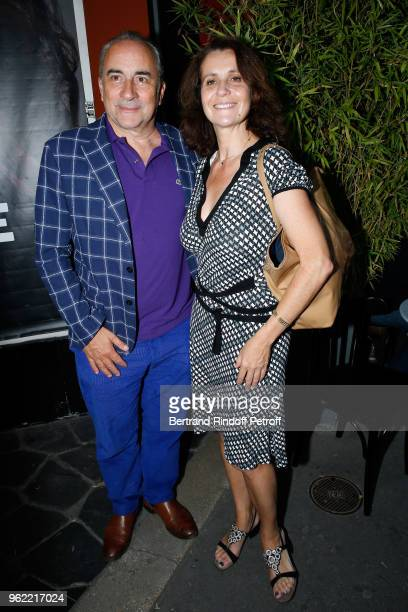 Actor Antoine Dulery and his wife Pascale Pouzadoux attend the 'La tete dans les etoiles' Theater play at Theatre de la Gaite Montparnasse on May 24...