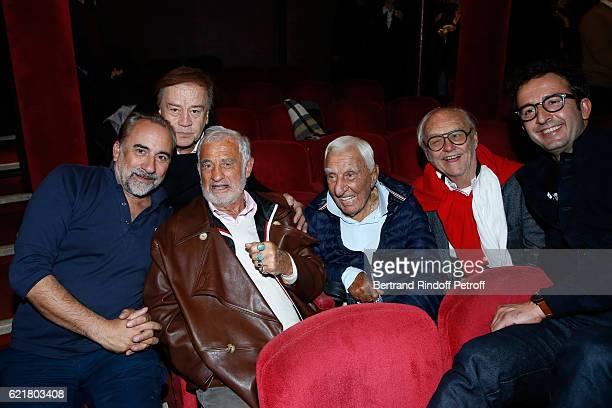 Actor Antoine Dulery journalist Daniel Lauclair actors JeanPaul Belmondo Charles Gerard Christian Brincourt and Cyrille Eldin attend LouisMichel...