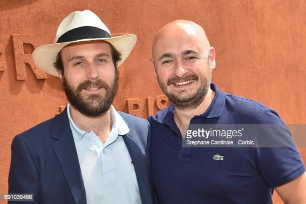 Actor Antoine Gouy and Director Nicolas Charlet attend the 2017 French Tennis Open Day Four at Roland Garros on May 31 2017 in Paris France