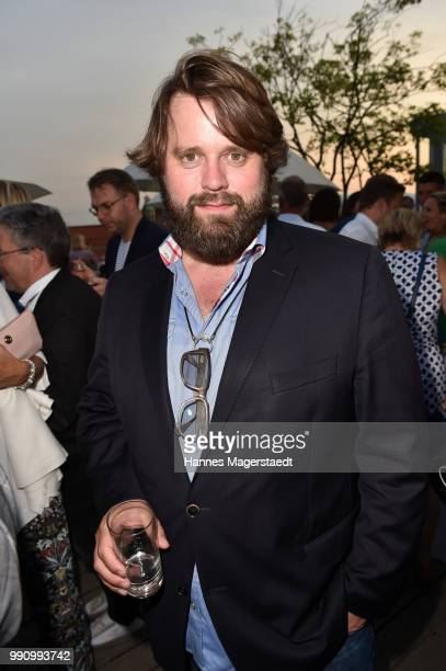 Actor Antoine Monot Jr during the summer party at Hotel Bayerischer Hof on July 3 2018 in Munich Germany
