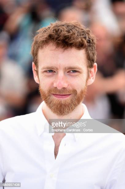 Actor Antoine Reinartz attends the '120 Beats Per Minute ' photocall during the 70th annual Cannes Film Festival at Palais des Festivals on May 20...