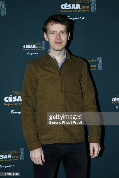 Actor Antoine Reinartz nominated for the film '120 Battements par Minute' attends the Cesar 2018 Nominee Luncheon at Le Fouquet's on February 10 2018...