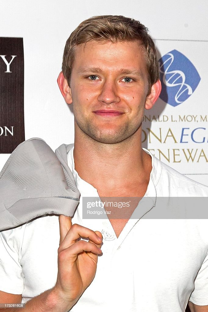 Actor Anton Nariskiy arrives at 'The Fountain Of Youth White Party' to celebrate