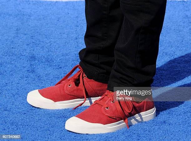 "Actor Anton Starkman, shoe detail, attends the premiere of Warner Bros. Pictures' ""Storks"" at Regency Village Theatre on September 17, 2016 in..."