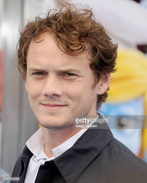 """Actor Anton Yelchin arrives at the Los Angeles premiere of """"Smurfs 2"""" at Regency Village Theatre on July 28, 2013 in Westwood, California."""