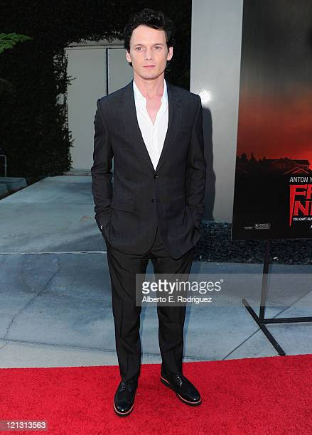 "Actor Anton Yelchin arrives to a screening of Dreamworks Pictures' ""Fright Night"" on August 17, 2011 in Hollywood, California."