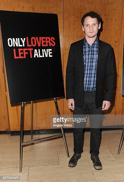 Actor Anton Yelchin attends The Academy of Motion Picture Arts Sciences screening of 'Only Lovers Left Alive' at Bing Theatre At LACMA at Bing...