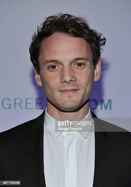 Actor Anton Yelchin attends the 'Green Room' TIFF party hosted by Metro and HELLO Canada at Byblos on September 10 2015 in Toronto Canada