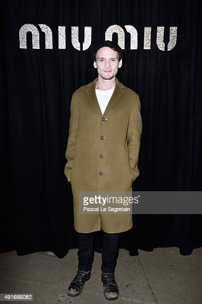 Actor Anton Yelchin attends the Miu Miu show as part of the Paris Fashion Week Womenswear Spring/Summer 2016 on October 7 2015 in Paris France